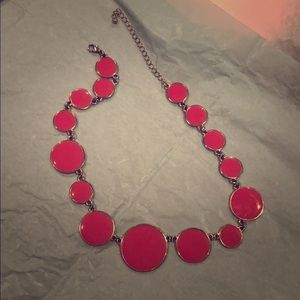 Corral colored circle necklace